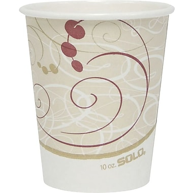 SOLO Symphony Paper Hot Cups, 10 oz., 50/Pack