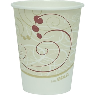 SOLO Symphony Paper Hot Cups, 8 oz., 1,000/Case