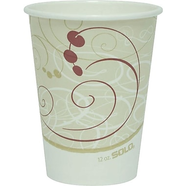 SOLO Symphony Paper Hot Cups, 12 oz., 1,000/Case
