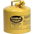 EAGLE Type I Flame Retardant Galvanized Steel Yellow Safety Can, 12.5 in (OD) X 13.5 in (H)