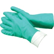 Tradex Nitrile Flocklined Gloves, Green, Medium