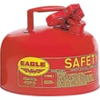 EAGLE Type I Galvanized Steel Red Safety Can, 11.25 in (OD) x 9.5 in (H), 2 Gallon