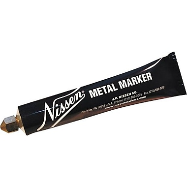 Nissen® 5/64 in Ball SS Tip Regular Paint Metal Marker, White