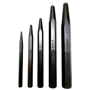 Mayhew™ Tools 5 Pieces Center Punch Kit, 1/4-5/8in.