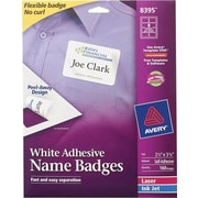 Avery® Self-Adhesive Name Badge Labels, White, 2 1/3 x 3 3/8, 160/Pack