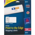 Avery 6873 Color Printing Matte White Laser Shipping Labels, 2in. x 3-3/4in., 200/Box