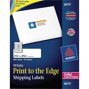 Avery® 6879 Color Printing Matte White  Laser Address Labels, 1-1/4 x 3-3/4, 300/Box