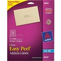 Avery 8660 Clear Inkjet Address Labels with Easy Peel®, 1in. X 2-5/8in., 750/Box