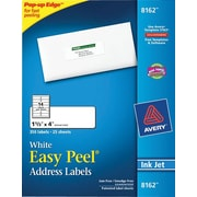 "Avery® 8162 White Inkjet Address Labels with Easy Peel®, 1-1/3"" x 4"", 350/Box"