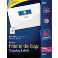 Avery 6878 Color Printing Matte White Laser Shipping Labels, 3-3/4in. X 4-3/4in., 100/Box