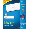 Avery 8461 White Inkjet Address  Labels with Easy Peel®, 1in. x 4in., 2,000/Box