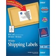 Avery 8464 White Inkjet Shipping Labels with TrueBlock, 3-1/3in. x 4in., 600/Box