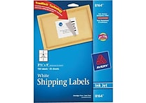 Avery® 8164 White Inkjet Shipping Labels with TrueBlock™, 3-1/3' x 4', 150/Box