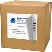 Avery® 8165 White Inkjet Full Sheet Shipping Labels with TrueBlock™, 8-1/2 x 11, 25/Box