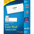 Avery 8462 White Inkjet Address Labels with Easy Peel®, 1-1/3in. x 4in., 1,400/Box