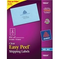 Avery 18664 Clear Inkjet Shipping Labels with Easy Peel, 3-1/3in. X 4in., 60/Box