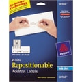 Avery® 58160 Repositionable White Inkjet Address Labels 1in. x 2-5/8in., 750/Box