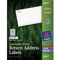 Avery® 48267 EcoFriendly White Inkjet/Laser Return Address Labels 1/2in. x 1-3/4in., 2,000/Box