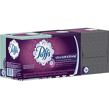 Puffs® Ultra Soft & Strong Facial Tissues, 2-Ply, 56 Sheets/Box