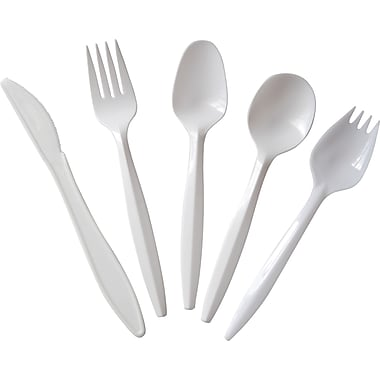 Berkley Square Individually Wrapped Medium Weight Plastic Cutlery