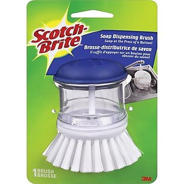Scotch-BriteMC – Brosse de paume avec distributeur à savon
