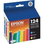 Epson® 124 (T124520-S) High Capacity Cyan, Magenta & Yellow Ink Cartridges, 3/Pack