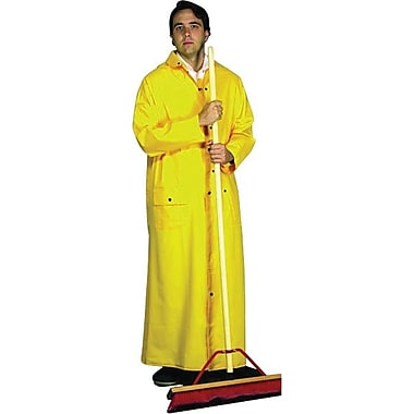 Anchor Brand® Riding Raincoat, Yellow, PVC On Polyester, 60 in (L) x 0.3500 mm (T), 2X-Large