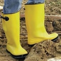 Anchor Brand® Adjustable Side Strap Yellow Slush Boots, Size 10