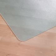 EcoTex Clear Eco Floormat, Hardfloor, No Lip, Rectangle