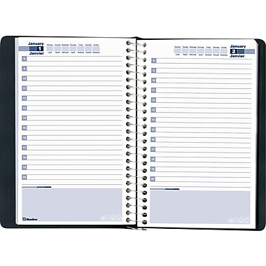 Blueline® Daily Perpetual Date Book, 8