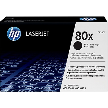 HP 80X Black Toner Cartridge (CF280X), High Yield