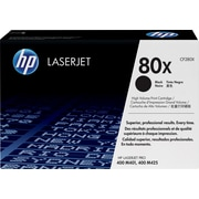 HP 80X Toner Cartridge, High Yield, Black (CF280X)