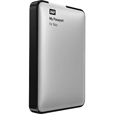 WD My Passport for Mac USB 3.0 Hard Drives (Silver)