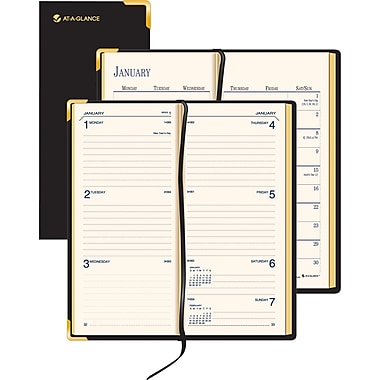 "2014 AT-A-GLANCE® Fine Diary® Weekly/Monthly Diary, 2 7/8"" x 4 7/8"""