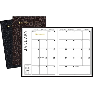 "2014 AT-A-GLANCE® Monthly Planner, 7"" x 10"", Assorted Colors"
