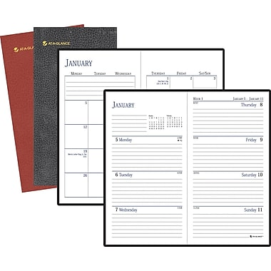 "2014 AT-A-GLANCE® Fine Diary® Weekly/Monthly Diary, 3 3/16"" x 6"""