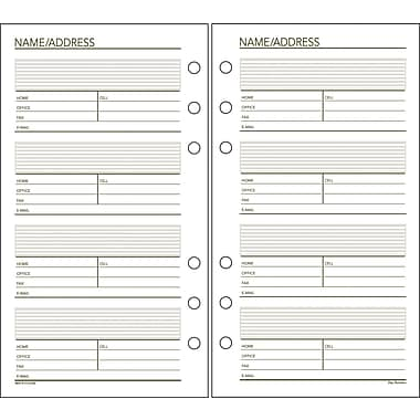 Day Runner® Recycled Telephone/Address Pages, 3-3/4in. x 6-3/4in.