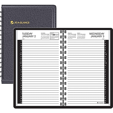 "2014 AT-A-GLANCE® Daily Appointment Book, Half Hour Intervals, 4 7/8"" x 8"""