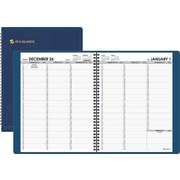 "2014 AT-A-GLANCE® Weekly Appointment Book, 8 1/4"" x 10 7/8"", Navy"