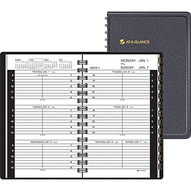 "2014 AT-A-GLANCE® Weekly Appointment Book, 3 3/4"" x 6 1/8"""