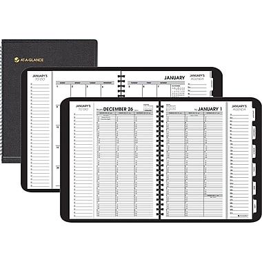 "2014 AT-A-GLANCE® Triple View™ Weekly/Monthly Appointment Book, 8 1/4"" x 10 7/8"""