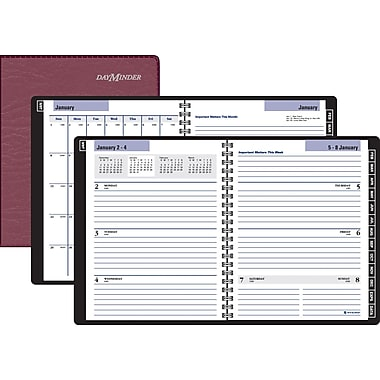 "2014 DayMinder® Executive Weekly/Monthly Planner, 6 7/8"" x 8 3/4"", Red"