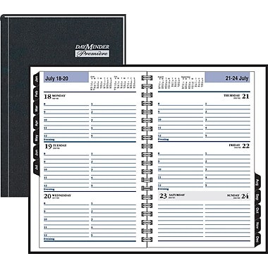 "2014 DayMinder® Hardcover Weekly Appointment Book, 4 7/8"" x 8"""