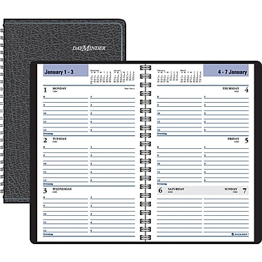"2014 DayMinder® Weekly Appointment Book, 4 7/8"" x 8"", Black"