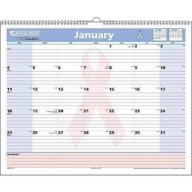 "2014 AT-A-GLANCE® QuickNotes® Special Edition Wall Calendar, 15"" x 12"""