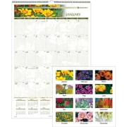 "2014 AT-A-GLANCE® Floral Wall Calendar, 15 1/2"" x 22 3/4"""
