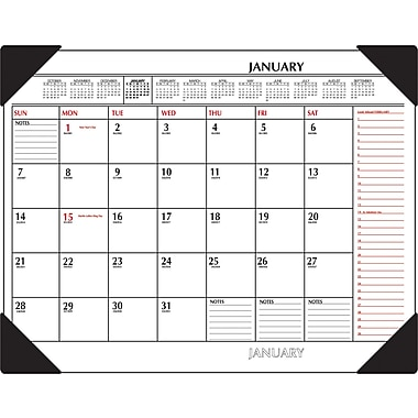 "2014 AT-A-GLANCE® Two-Color Desk Pad, 22"" x 17"""