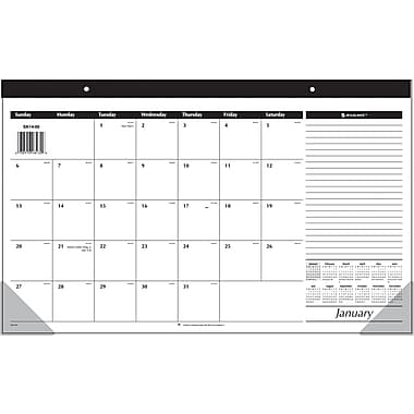 2013 AT-A-GLANCE®  Recycled Compact Desk Pad, 17-3/4in. x 10-7/8in.