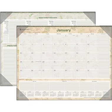 "2014 AT-A-GLANCE® LifeLinks® Desk Pad, 22"" x 17"""
