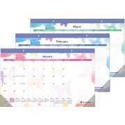 "2014 AT-A-GLANCE® Watercolors Monthly Compact Desk Pad, 17 3/4"" x 10 7/8"""